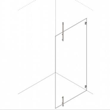 Foto van Inloopdouche vaste wand + vloer en plafondbevestiging