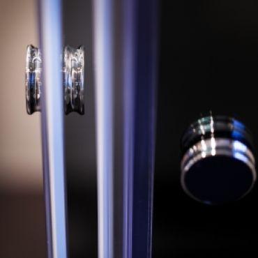 Foto van Schuifdeursysteem voor hoekopstelling met 2 schuifdeuren