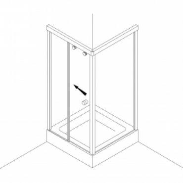 Foto van Schuifdeursysteem voor hoekopstelling