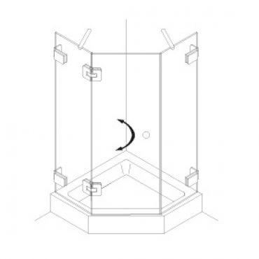 Foto van Vijfhoek cabine enkele deur