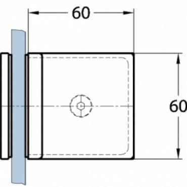 Foto van Vrijstaande wand incl. 2 stabilisatiestangen