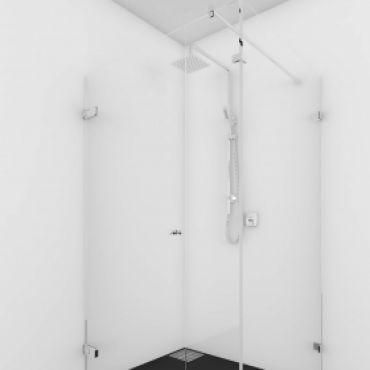 Foto van Cabine met deur en vast deel aan sluitzijde
